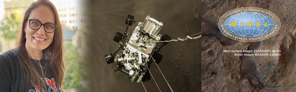 Dragana Perkovic-Martin; March 2020 rover; MIRSL logo; mars surface